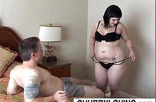 Cute chubby goth Candi enjoys a sticky facial cumshot.  xxx porn