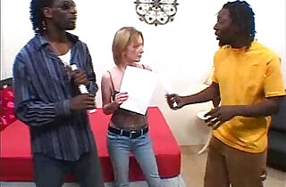 Interracial threesome.  xxx porn