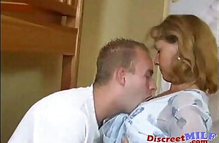 Horny mom and son fucking at home.  xxx porn