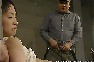 Japanese chick held down and stuffed with fat dicks.  xxx porn