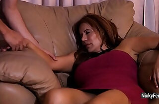 Juicy mature redhead is having a surprise while she sleeping.  xxx porn