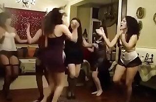 Arabian girlfriends dancing in lingerie.  xxx porn