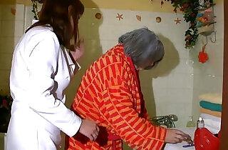 OldNanny Sexy nurse shower granny, Granny with grandpa have sex.  xxx porn