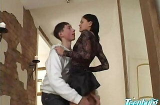 Brother fuck his sister in hallway.  xxx porn
