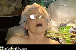 Old chubby Granny masturbate.  young-old   xxx porn
