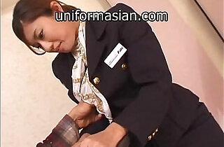 Asian Hairy Air Hostess in uniform getting sex.  xxx porn