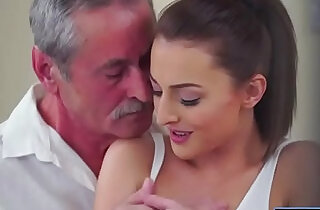 Czech Katy Rose sucks off and old guy before riding his cock.  xxx porn