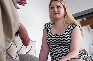 Sophie Sativa bends over for a dad drilling doggystyle.  xxx porn