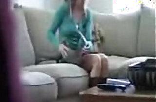 Caught sister masturbating watching porn in camera.  xxx porn