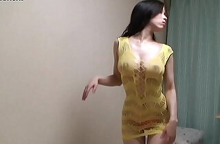 Naked Busty Japanese wears a See through Lingerie.  xxx porn
