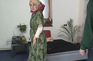 Lonely old grandma pleases an young guy.  xxx porn