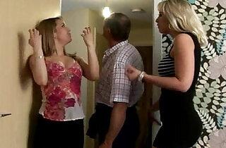 CFNM voyeurs making him blow.  xxx porn