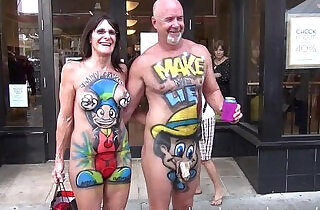 hot milf exhibitionists on the streets of key west.  xxx porn