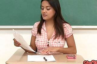 Bad Student Selma Sins Strokes for Better Grade.  xxx porn