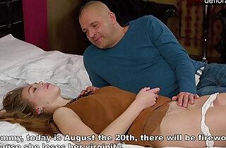 Virgin Alesya being seduced by a porn actor.  xxx porn