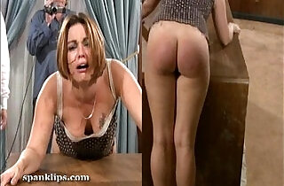 Upset bruntte is taken a serious spanking.  xxx porn