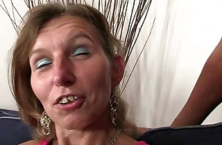 Granny fucks her daughters BF and GF watches.  xxx porn