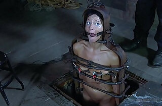 Strappado, claustrophobia and orgasm predicament for captive girl.  xxx porn