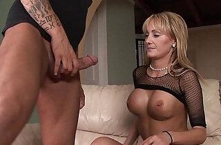 busty amateur blonde amateur milf gives bj before riding huge black cock.  xxx porn