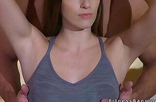 Personal coach bangs slim brunette.  xxx porn