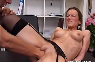 Horny brunette milf fisted ass fucked and jizzed in her face.  italy  ,  jizzed  ,  MILF porno   xxx porn