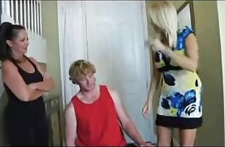 Mom and aunt punished son.  xxx porn