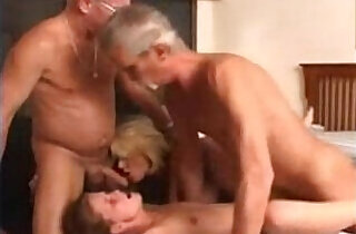 Granny wife and a young chick in a foursome.  so young  ,  young-old   xxx porn