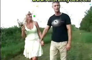 mom and son outside.  xxx porn
