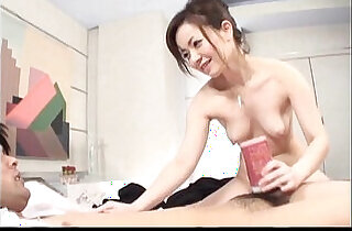 Hot Japanese MILF toys with her lovers cock.  xxx porn