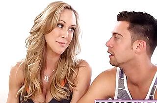 MomsTeachSex Hot Yoga Mom Fucks Son And Teen GF.  xxx porn