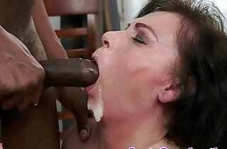 Highheeled granny gets fucked interracially.  xxx porn
