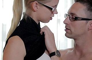 Pick up trick with amateur coed Violette Pure teen porn.  xxx porn