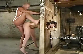 Busty blonde with hands cuffed easy prey.  xxx porn