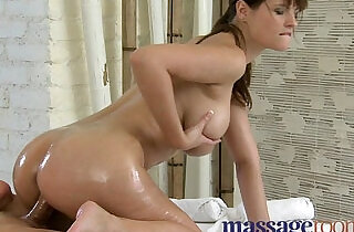 Massage Rooms Soft perfect feet and legs are worshiped before climax.  xxx porn