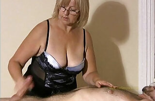 Big titted professional masseuse sensually massages client and his cock.  xxx porn