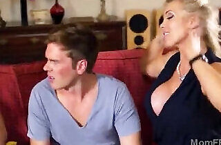 Stunning big booty MILF joins trio with stepdaughters.  step daddy  ,  step mommy   xxx porn