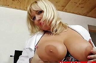 Filthy blonde big tits milf in nurse uniform.  tits  ,  uniform fuck   xxx porn