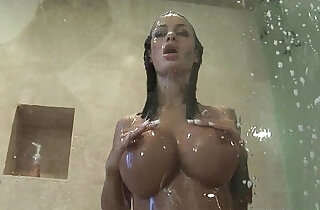TittyAttack Big boobs brunette latina Angelina Valentine shower hardcore fuck.  hardcore sex  ,  latino  ,  sex star  ,  shower sex  ,  tits   xxx porn