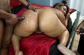 Fat ebony woman screwed by two black studs.  xxx porn