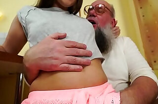 Nasty grandpa fucks Liza Shay.  xxx porn