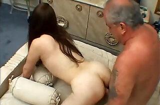 Teen Rides Old Dudes Dick.  xxx porn