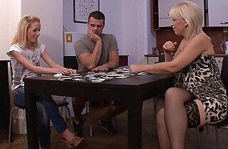 Strip poker leads to pussy toying.  xxx porn