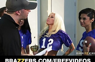 Two slutty football players celebrate by fucking their coach.  xxx porn