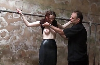 Filthy slaveslut whipping and dirty dungeon tortures of breast spanked amateur.  spanked   xxx porn
