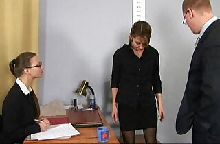Humiliating, totally nude job interview for young lady.  young-old   xxx porn