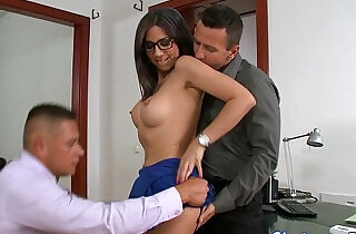 Eurobabe pounded by hard in threesome.  xxx porn