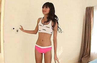 Asian teen takes cock, balls deep, inside her tiny little vagina.  xxx porn