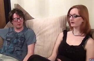 Redhead banged by a nerd.  xxx porn