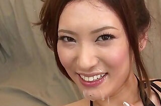 Yui Kasuga fucked hard with sex toys and jizzed on face.  xxx porn