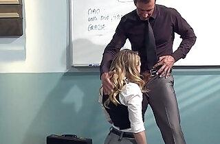 Kagney Linn Karter Horny For Italian Teachers Cock.  xxx porn